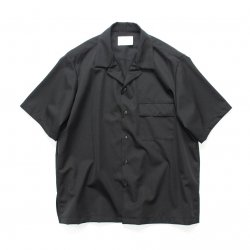 stein(シュタイン)/WOOL GABARDINE DOWN PATTERN SS SHIRT/Black