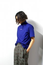 ETHOSENS(エトセンス)/High neck T shirt/Blue