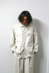 URU(ウル)/COVERALL JACKET/Ecru