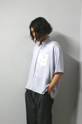 LIBERUM(リベルム)/ZIP UP FLARE SHIRT/Sax
