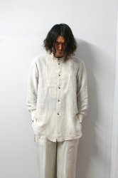 URU(ウル)/STAND COLLAR L/S SHIRTS/Natural
