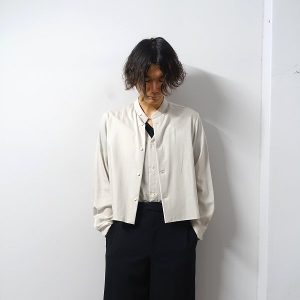 ETHOSENS(エトセンス)/Layer shirt/Greige