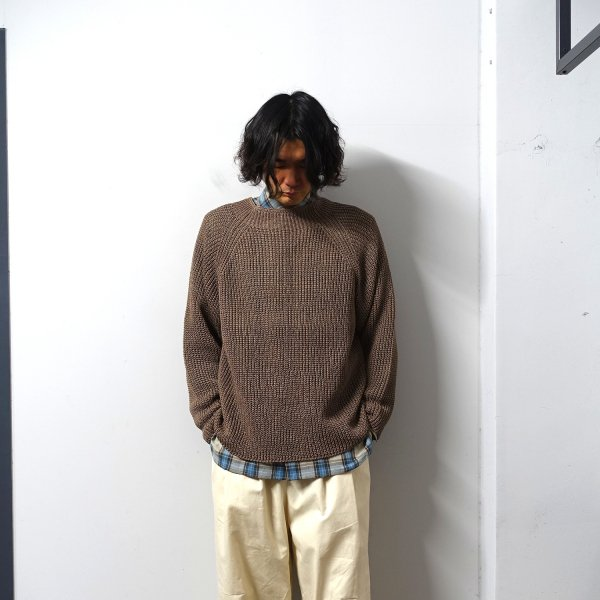 <img class='new_mark_img1' src='https://img.shop-pro.jp/img/new/icons13.gif' style='border:none;display:inline;margin:0px;padding:0px;width:auto;' />URU(ウル)/CREW NECK OVER KNIT/Brown