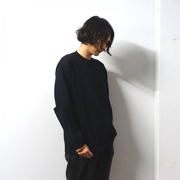 <img class='new_mark_img1' src='https://img.shop-pro.jp/img/new/icons13.gif' style='border:none;display:inline;margin:0px;padding:0px;width:auto;' />stein(シュタイン)/OVERSIZED LONG SLEEVE TEE - WORDS -/Black