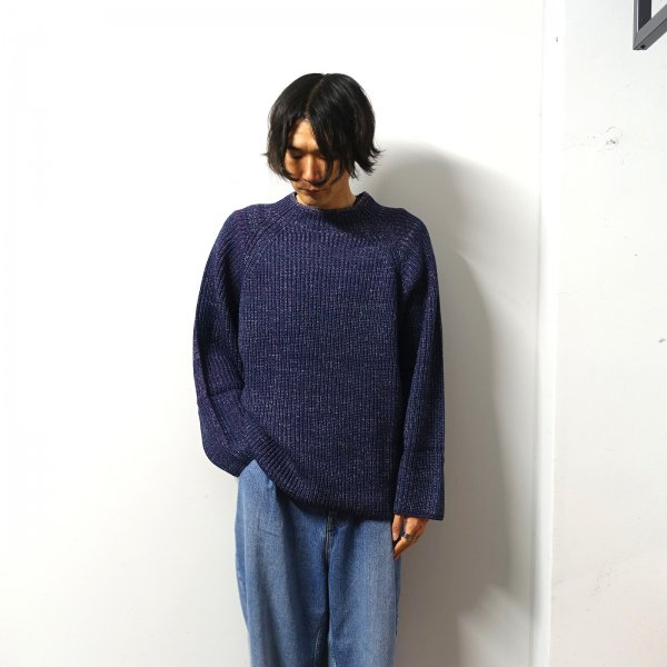 <img class='new_mark_img1' src='https://img.shop-pro.jp/img/new/icons13.gif' style='border:none;display:inline;margin:0px;padding:0px;width:auto;' />URU(ウル)/OVER KNIT/Navy