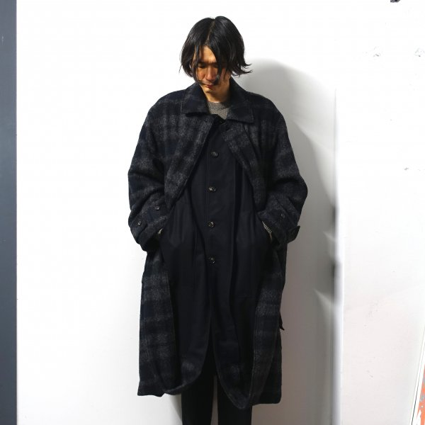 <img class='new_mark_img1' src='https://img.shop-pro.jp/img/new/icons13.gif' style='border:none;display:inline;margin:0px;padding:0px;width:auto;' />stein(シュタイン)/OVERSIZED BLANKET COAT/Shadow check