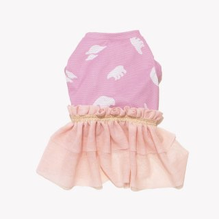 冷え冷えお洋服くまピンク