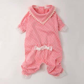 パジャマでおじゃまロンパース ピンク