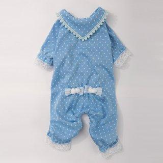 パジャマでおじゃまロンパース ブルー