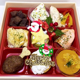 chikata to Luludoll×ポワポワ コラボ 「3種のケーキとオードブルのクリスマス サンタの贈り物 御膳」