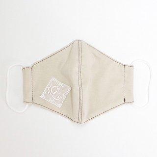 うるおうコットン美マスク(LuludollのLレースモチーフワッペン付き限定バージョン) ロイヤルミルクティー