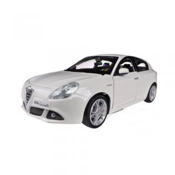 Alfa Romeo Giulietta White 1/24 Burago アルファロメオ ジュリエッタ ダイキャストミニカー