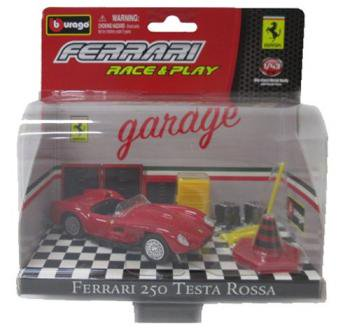 フェラーリRACE&PLAYシリーズ 250 テスタロッサ 1/43 Bburago Ferrari ミニカー