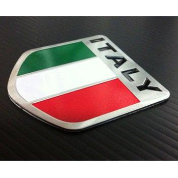 イタリア国旗 アルミステッカー エンブレム アルファロメオ・フィアット・フェラーリ等