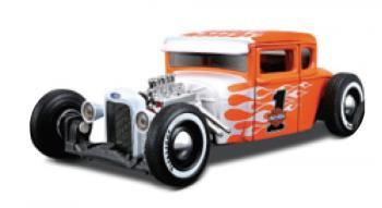【Maisto】マイスト 1:24  ハーレー 1929 フォードモデルA  オレンジ/ホワイト  ミニカー