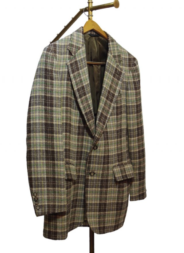 70's USA Vintage Check Tweed Jacket <img class='new_mark_img2' src='https://img.shop-pro.jp/img/new/icons8.gif' style='border:none;display:inline;margin:0px;padding:0px;width:auto;' />