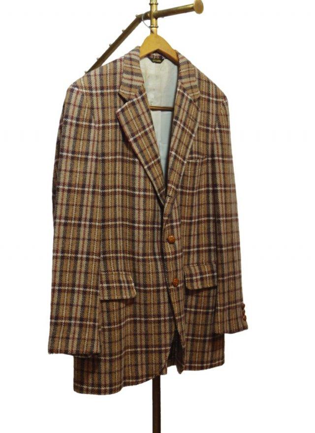 70's USA  Vintage CORBIN,Ltd Check Tweed Jacket <img class='new_mark_img2' src='https://img.shop-pro.jp/img/new/icons8.gif' style='border:none;display:inline;margin:0px;padding:0px;width:auto;' />