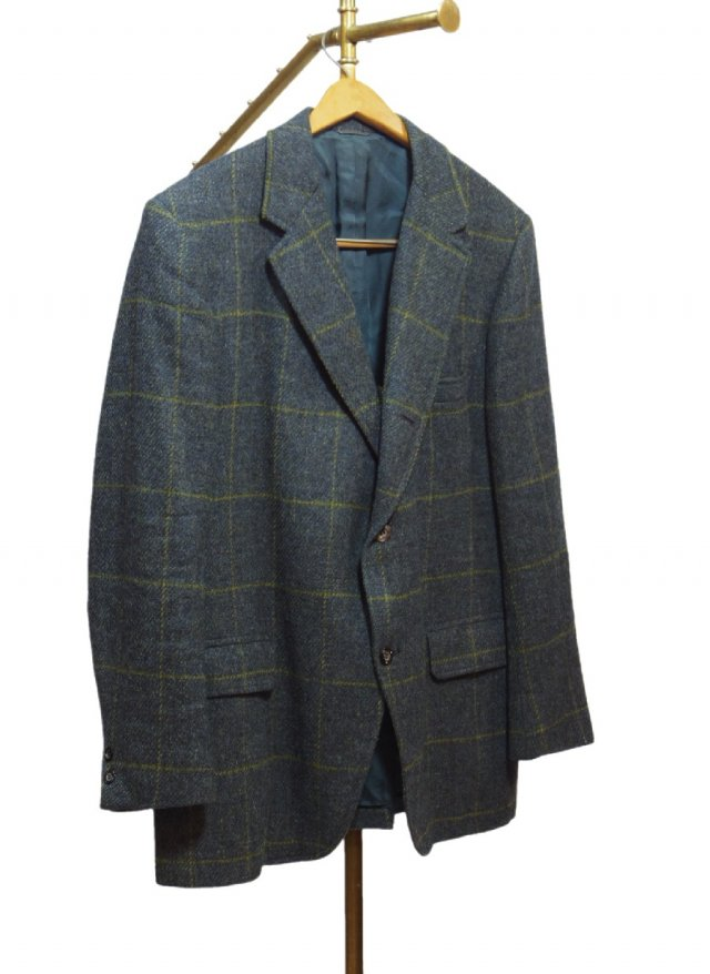 70's USA Windowpane Check Vintage Tweed Jacket <img class='new_mark_img2' src='https://img.shop-pro.jp/img/new/icons8.gif' style='border:none;display:inline;margin:0px;padding:0px;width:auto;' />