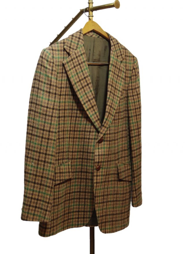 80's Vintage Check Tweed Jacket <img class='new_mark_img2' src='https://img.shop-pro.jp/img/new/icons8.gif' style='border:none;display:inline;margin:0px;padding:0px;width:auto;' />
