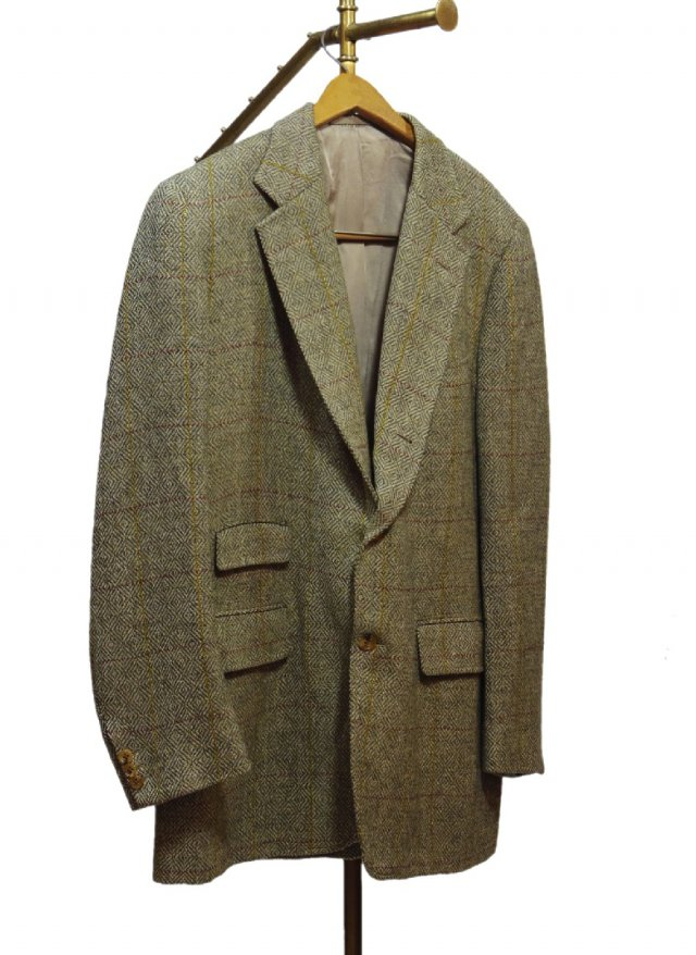 70's USA J.PRESS Windowpane Check Vintage Tweed 3 buttons Jacket #47<img class='new_mark_img2' src='https://img.shop-pro.jp/img/new/icons8.gif' style='border:none;display:inline;margin:0px;padding:0px;width:auto;' />