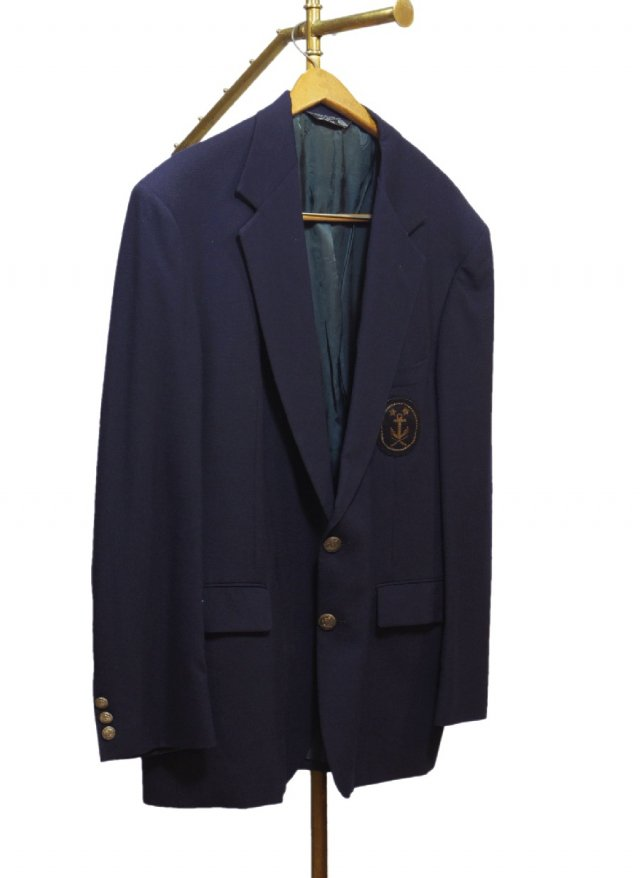 John Alexander Vintage Wool Navy Blazer  <img class='new_mark_img2' src='//img.shop-pro.jp/img/new/icons8.gif' style='border:none;display:inline;margin:0px;padding:0px;width:auto;' />