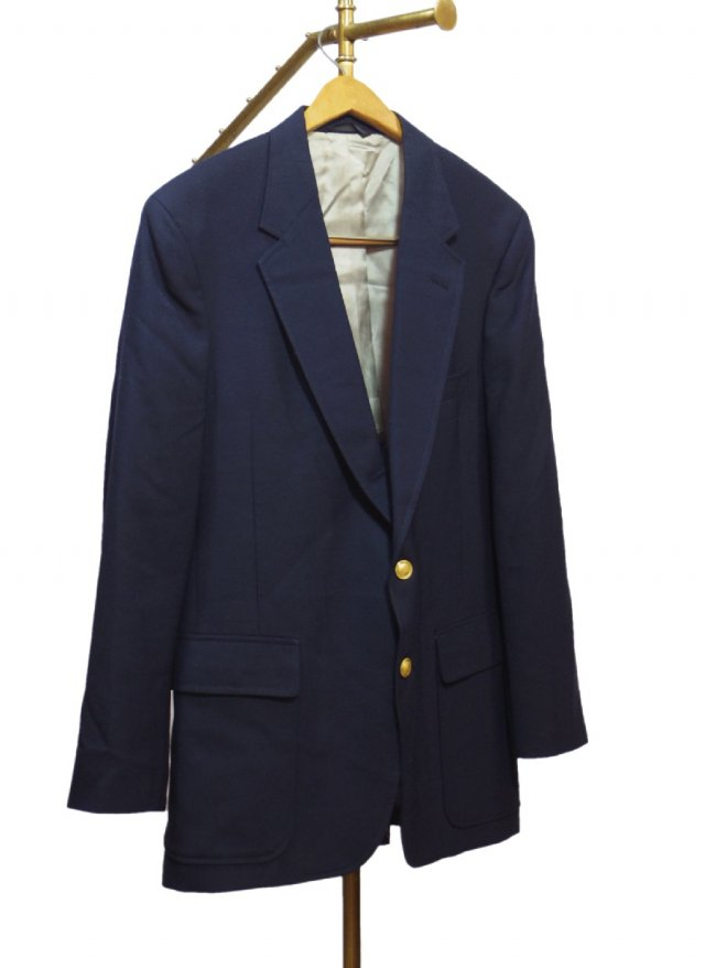 USA Blooming dails  Vintage Wool Navy Blazer  <img class='new_mark_img2' src='//img.shop-pro.jp/img/new/icons8.gif' style='border:none;display:inline;margin:0px;padding:0px;width:auto;' />