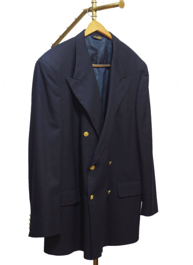 USA BROOKS BROTHERS  Vintage Wool Navy Blazer  #81<img class='new_mark_img2' src='https://img.shop-pro.jp/img/new/icons8.gif' style='border:none;display:inline;margin:0px;padding:0px;width:auto;' />