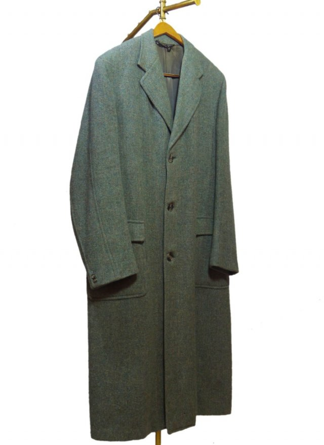 50's UK Harris Tweed Vintage Long Coat #608<img class='new_mark_img2' src='//img.shop-pro.jp/img/new/icons8.gif' style='border:none;display:inline;margin:0px;padding:0px;width:auto;' />