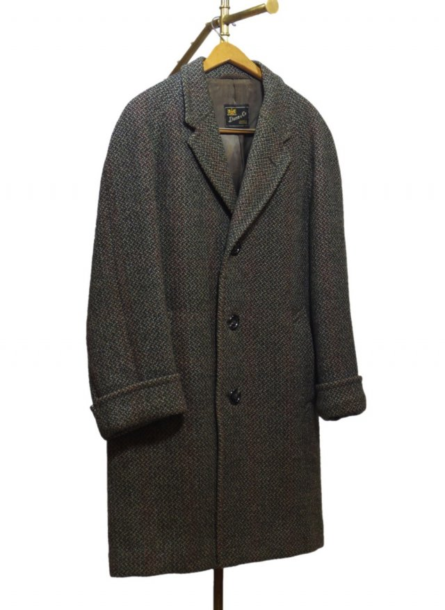 70's UK CROMBIE × Dunn & Co. Vintage Tweed Coat #587<img class='new_mark_img2' src='//img.shop-pro.jp/img/new/icons8.gif' style='border:none;display:inline;margin:0px;padding:0px;width:auto;' />