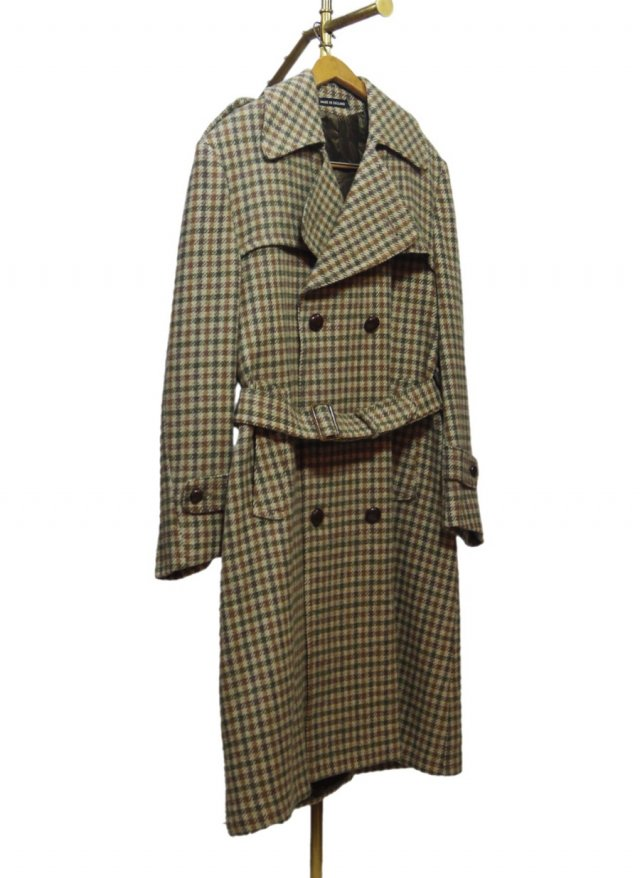UK AUSTIN REED Check Wool Trench Coat #666<img class='new_mark_img2' src='https://img.shop-pro.jp/img/new/icons8.gif' style='border:none;display:inline;margin:0px;padding:0px;width:auto;' />