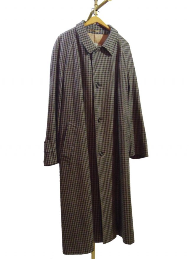 UK Aquascutum  Vintage Check  Wool Cashmere Long Coat #610<img class='new_mark_img2' src='https://img.shop-pro.jp/img/new/icons8.gif' style='border:none;display:inline;margin:0px;padding:0px;width:auto;' />