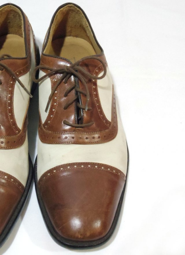 Vintage ITA【Johnston & Murphy CELLINI】Straight tip Leather Shoes<img class='new_mark_img2' src='//img.shop-pro.jp/img/new/icons8.gif' style='border:none;display:inline;margin:0px;padding:0px;width:auto;' />