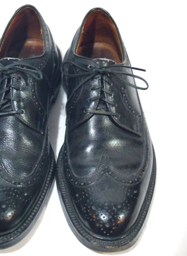 Vintage 80's  USA【Private Stock】 Wing Tip Leather Shoes<img class='new_mark_img2' src='https://img.shop-pro.jp/img/new/icons8.gif' style='border:none;display:inline;margin:0px;padding:0px;width:auto;' />