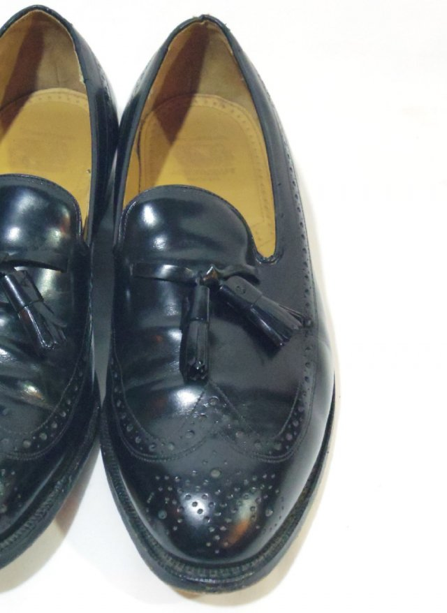 Vintage 80's USA 【Johnston & Murphy ARISTO CRAFT】 Tassel loafers Leather Shoes    #427<img class='new_mark_img2' src='https://img.shop-pro.jp/img/new/icons8.gif' style='border:none;display:inline;margin:0px;padding:0px;width:auto;' />