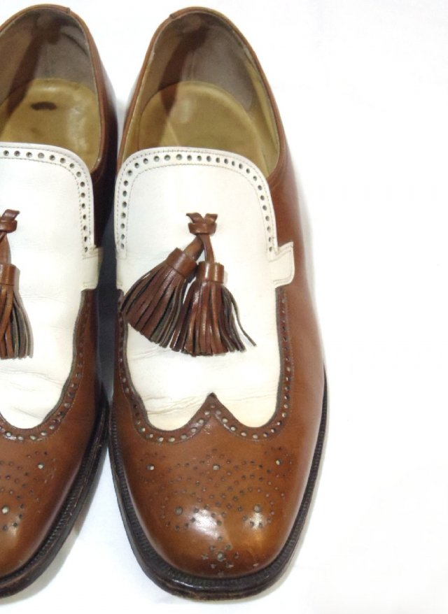 Vintage 70's USA 【FLORSHIEM】 Tassel loafers Leather Shoes     #424<img class='new_mark_img2' src='https://img.shop-pro.jp/img/new/icons8.gif' style='border:none;display:inline;margin:0px;padding:0px;width:auto;' />