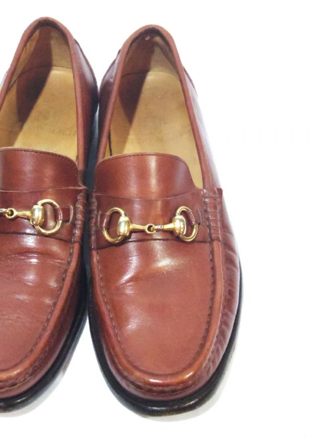 Vintage  ITA 【BRUNO MAGLI】 Bit loafers Leather Shoes  NO.638<img class='new_mark_img2' src='https://img.shop-pro.jp/img/new/icons8.gif' style='border:none;display:inline;margin:0px;padding:0px;width:auto;' />