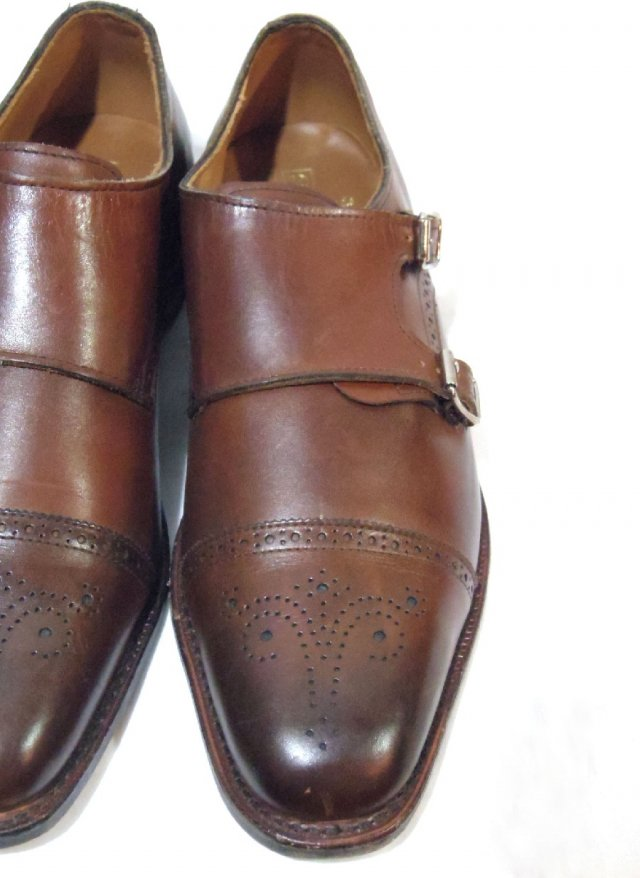 D-STOCK USA【Allen Edomons St. John's】Double monk strap Leather Shoes<img class='new_mark_img2' src='https://img.shop-pro.jp/img/new/icons8.gif' style='border:none;display:inline;margin:0px;padding:0px;width:auto;' />