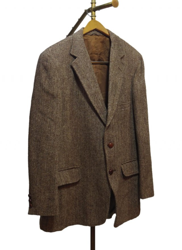 80's USA Harris Tweed Vintage Jacket #529<img class='new_mark_img2' src='https://img.shop-pro.jp/img/new/icons8.gif' style='border:none;display:inline;margin:0px;padding:0px;width:auto;' />