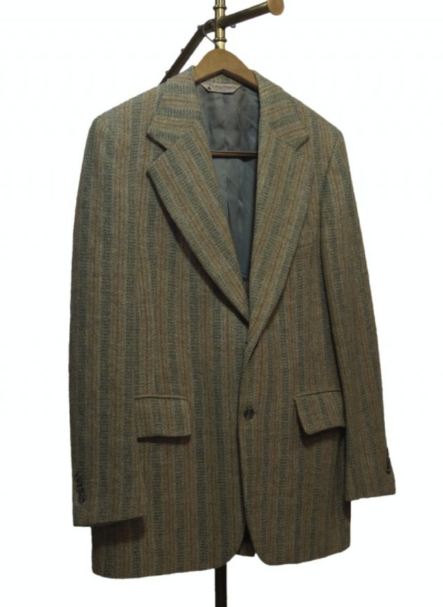 70's USA Harris Tweed Vintage Stripe Jacket <img class='new_mark_img2' src='https://img.shop-pro.jp/img/new/icons8.gif' style='border:none;display:inline;margin:0px;padding:0px;width:auto;' />