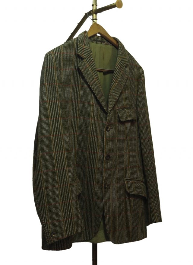 UK Aquasucutum Vintage Check Tweed Hacking Jacket #629<img class='new_mark_img2' src='https://img.shop-pro.jp/img/new/icons8.gif' style='border:none;display:inline;margin:0px;padding:0px;width:auto;' />
