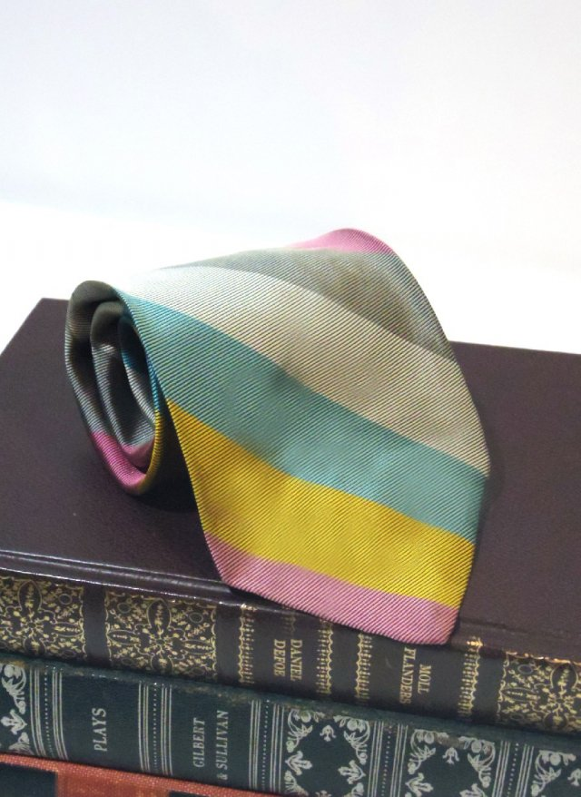 Vintage Rep Stripe Neck Tie <img class='new_mark_img2' src='https://img.shop-pro.jp/img/new/icons8.gif' style='border:none;display:inline;margin:0px;padding:0px;width:auto;' />