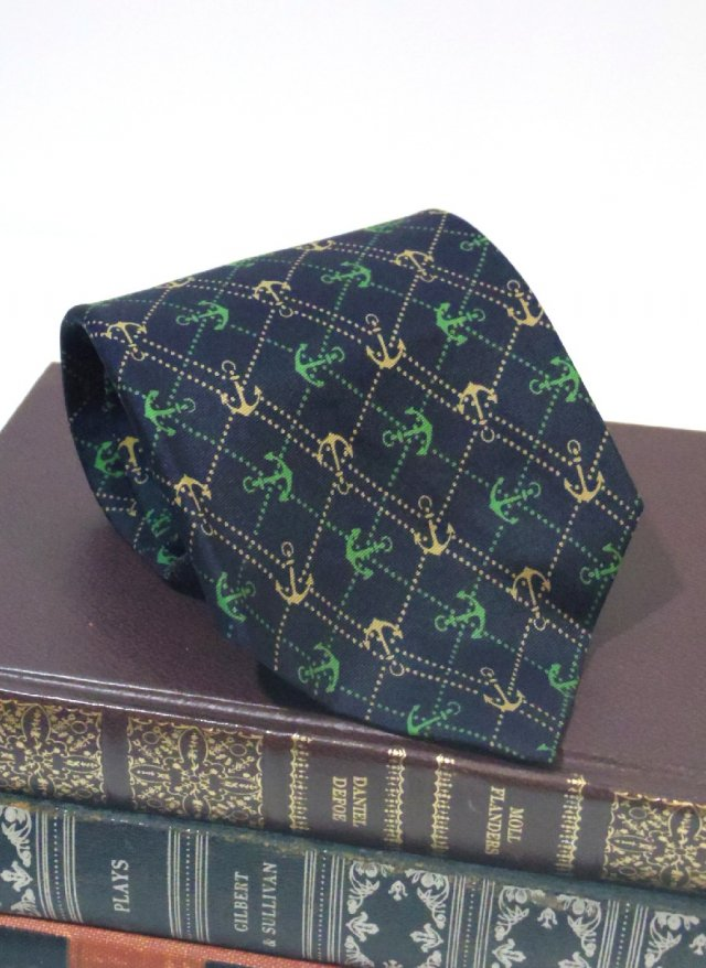 Vintage Ralph Lauren Chaps anchor Check Neck Tie ABRAHAM&STRAUS<img class='new_mark_img2' src='https://img.shop-pro.jp/img/new/icons8.gif' style='border:none;display:inline;margin:0px;padding:0px;width:auto;' />