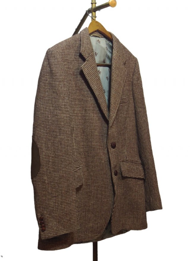 80's UK Harris Tweed × Harrods Vintage Hucking Jacket #20<img class='new_mark_img2' src='https://img.shop-pro.jp/img/new/icons8.gif' style='border:none;display:inline;margin:0px;padding:0px;width:auto;' />