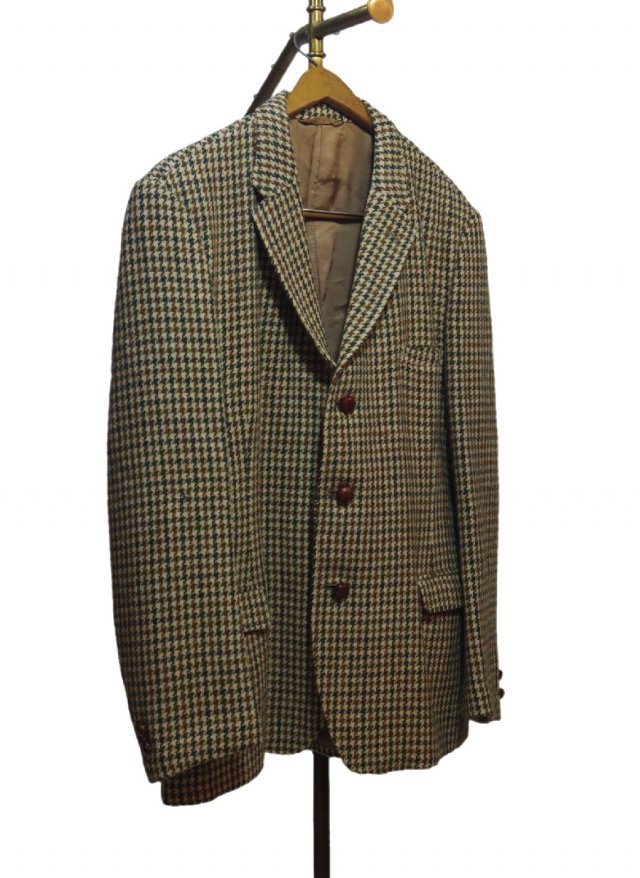 60's UK Harris Tweed × Dunn & Co. Vintage Gun club Check Jacket <img class='new_mark_img2' src='https://img.shop-pro.jp/img/new/icons8.gif' style='border:none;display:inline;margin:0px;padding:0px;width:auto;' />