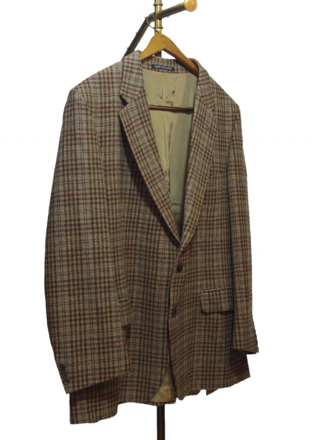 UK HOLAND&HOLAND Vintage Check Tweed Jacket #449<img class='new_mark_img2' src='https://img.shop-pro.jp/img/new/icons8.gif' style='border:none;display:inline;margin:0px;padding:0px;width:auto;' />
