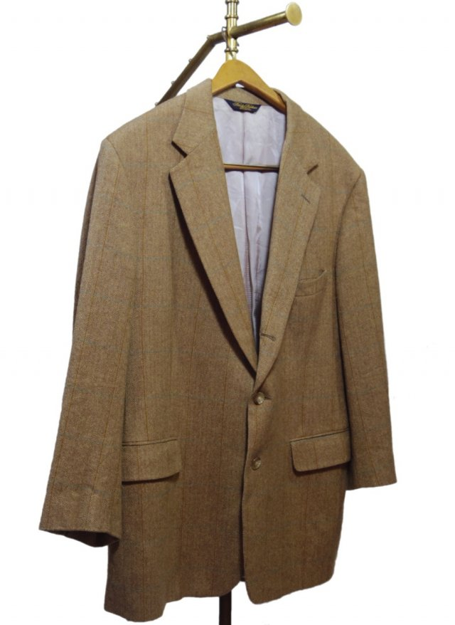 80's USA Brooks Brothers Windowpane Check Vintage Cashmere Jacket #51 <img class='new_mark_img2' src='https://img.shop-pro.jp/img/new/icons8.gif' style='border:none;display:inline;margin:0px;padding:0px;width:auto;' />