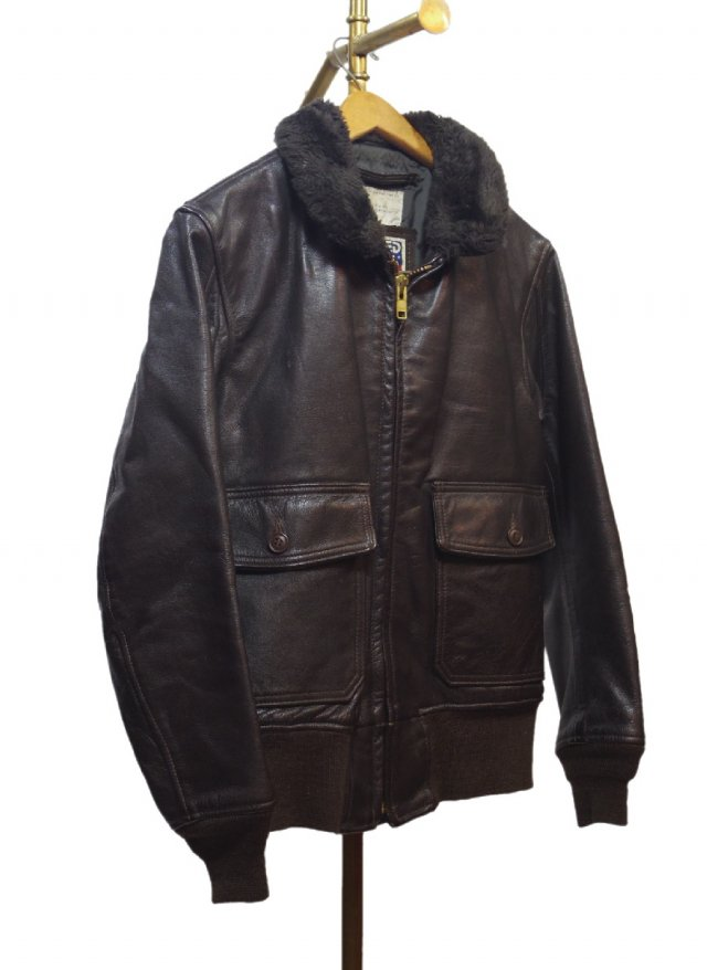 70'S USA USN EXCELLED G-1 Type Vintage Boa Goat Skin Leather Fly Jacket #247<img class='new_mark_img2' src='https://img.shop-pro.jp/img/new/icons8.gif' style='border:none;display:inline;margin:0px;padding:0px;width:auto;' />