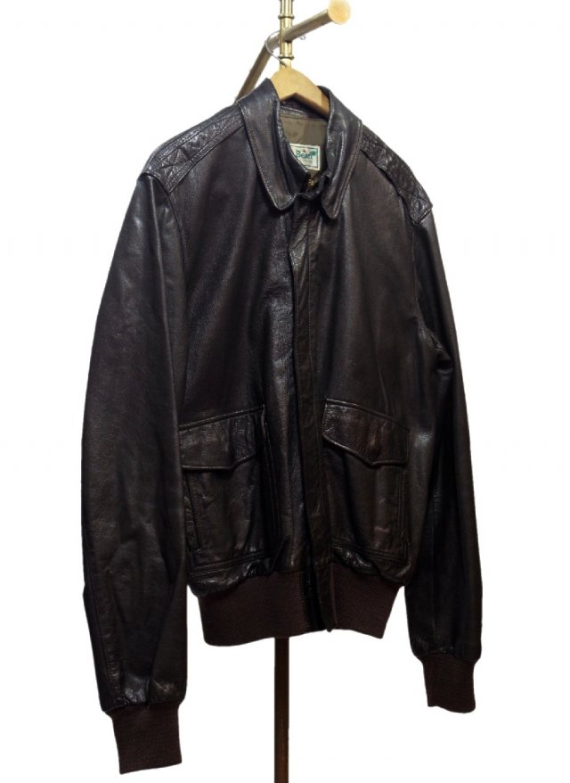 80's L.L.BEAN A-2 Type Vintage Goat Skin Leather 【 FLYING TIGER JACKET】 #232<img class='new_mark_img2' src='https://img.shop-pro.jp/img/new/icons8.gif' style='border:none;display:inline;margin:0px;padding:0px;width:auto;' />