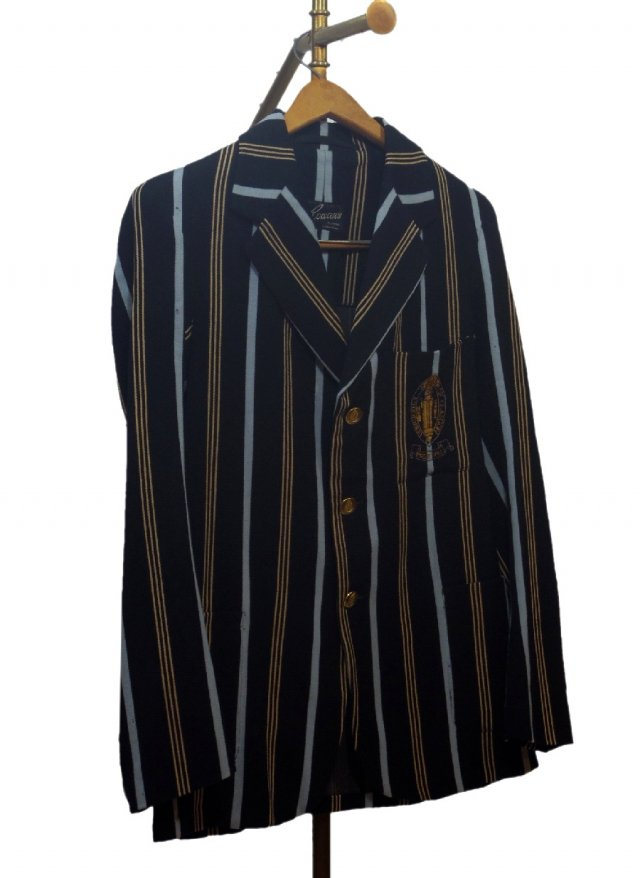UK 40's Vintage Stripe School Uniform Blazer #702<img class='new_mark_img2' src='https://img.shop-pro.jp/img/new/icons8.gif' style='border:none;display:inline;margin:0px;padding:0px;width:auto;' />