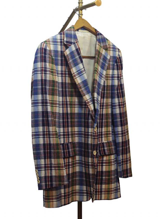 80's USA Vintage Cotton Check Jacket Stanley Blacker<img class='new_mark_img2' src='https://img.shop-pro.jp/img/new/icons8.gif' style='border:none;display:inline;margin:0px;padding:0px;width:auto;' />